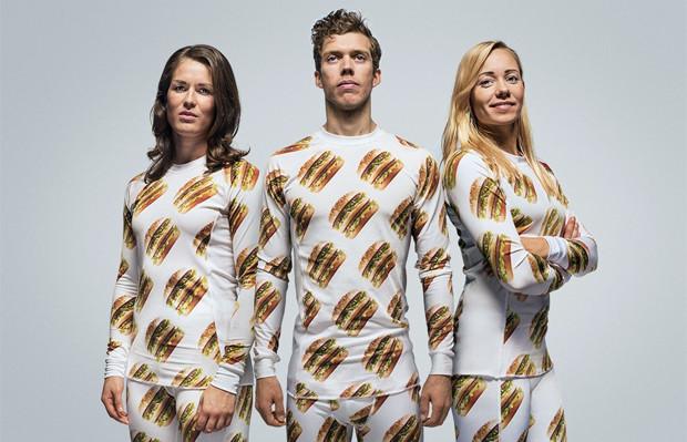 Mc Donald's Big Mac roupas Big Mac Shop pijamas