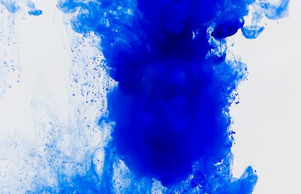 azul pigmento água