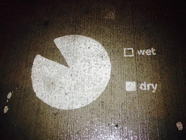 Ilustrações aparecem quando chove rainworks