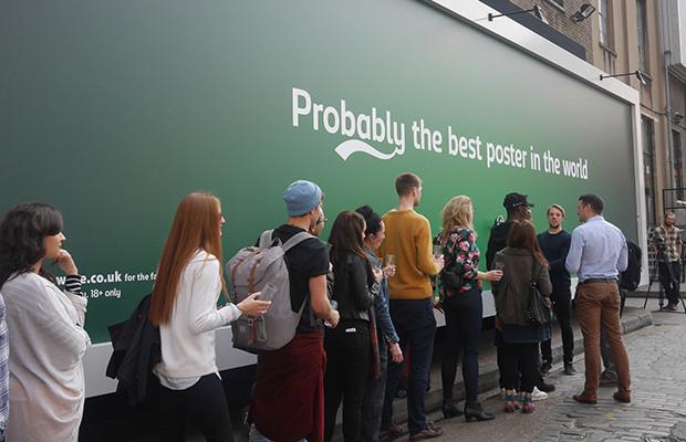 Londres Carlsberg cerveja grátis outdoor