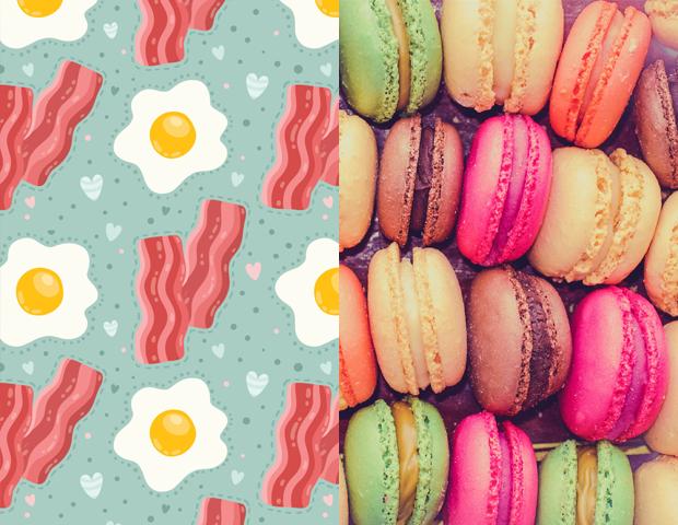 Shutterstock Imagem gratuita semana macarrons bacon ovo