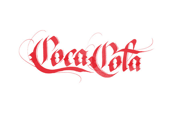 logos famosos Tipografia Sara Marshall handlettering Coca-Cola