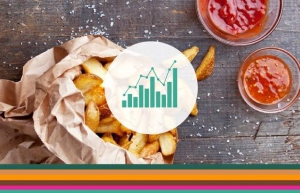 comidas e bebidas tendências na culinária infográfico header