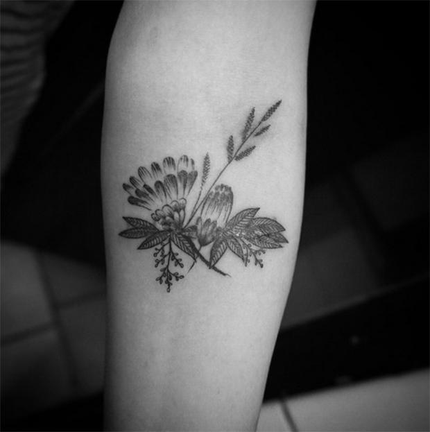 Nando Zevê tattoo flor
