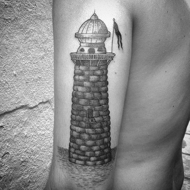 Nando Zevê tattoo farol