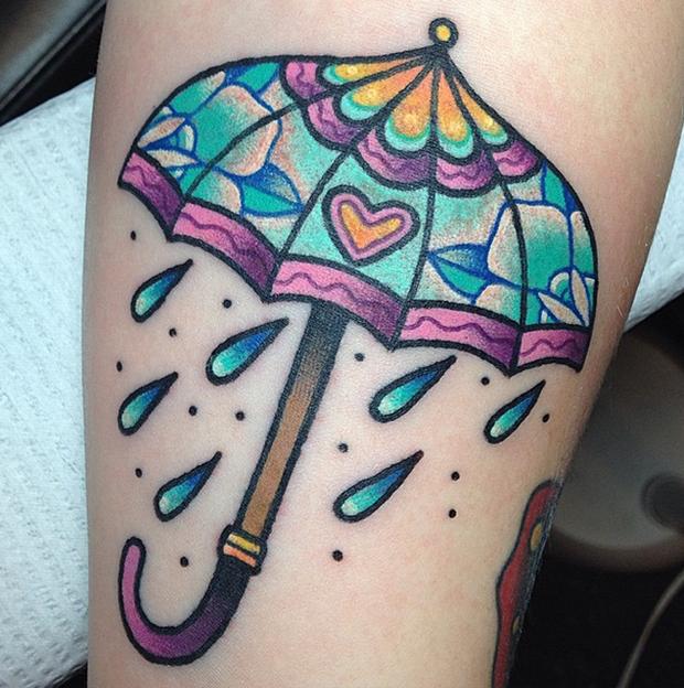 tattoo Kelly McGrath rain