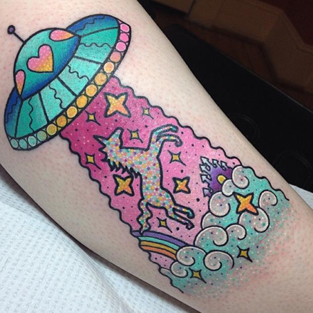 tattoo Kelly McGrath ufo