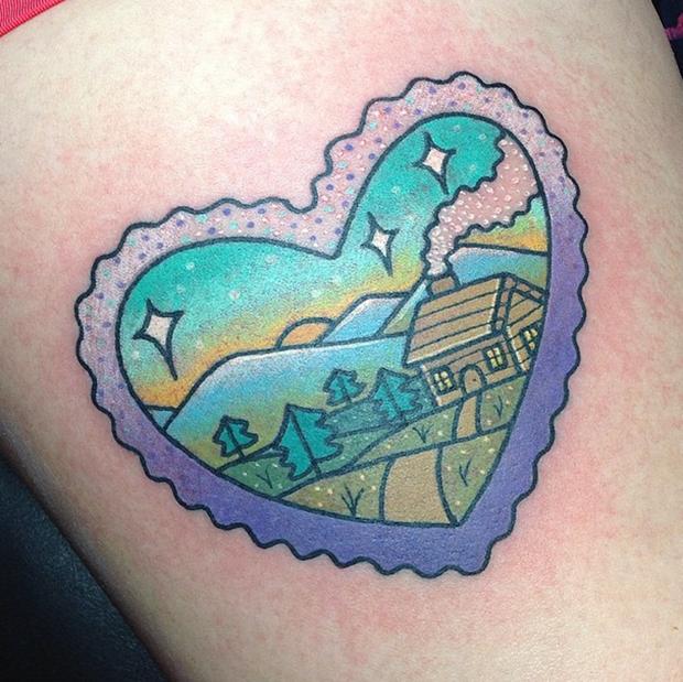 tattoo Kelly McGrath heart