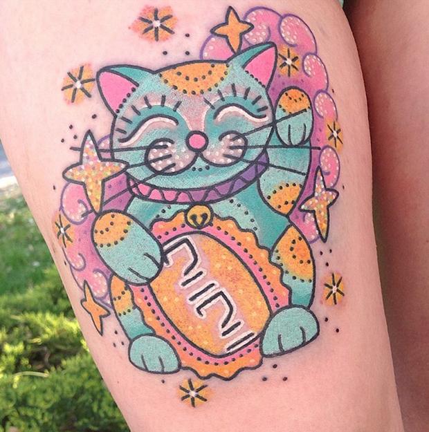 tattoo Kelly McGrath cat