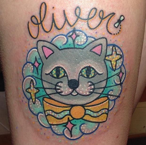 tattoo Kelly McGrath cat oliver