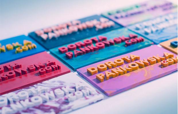 Cartão visita giz Dorota Pankowska
