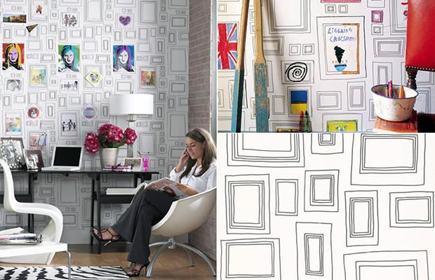 Papel parede para colorir frames Graham & Brown