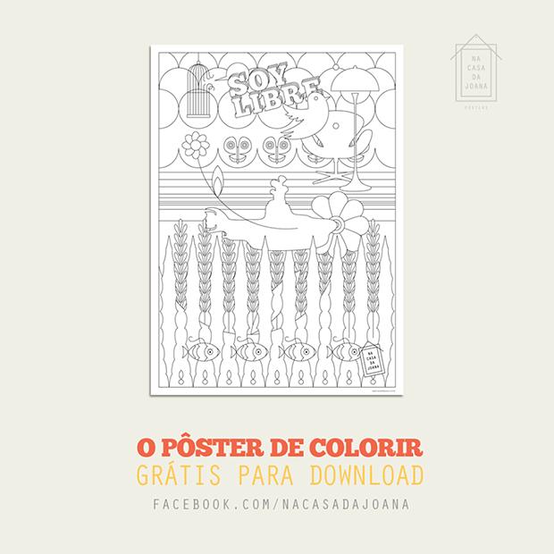 Soy Libre Poster Para Colorir Na Casa Da Joana
