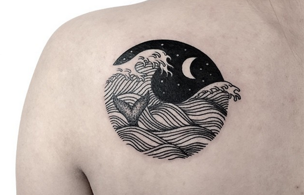 Caitlin Thomas Lucid Lines tattoo