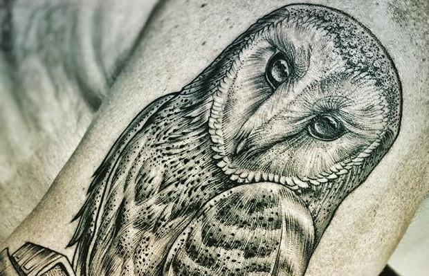 Tattoo tatuagem Jacknight coruja