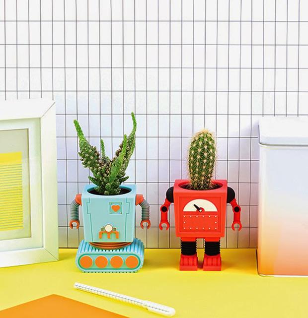 vasos robôs planterbots