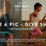 Tire uma foto dos seus pés e dê um par de sapatos a quem precisa