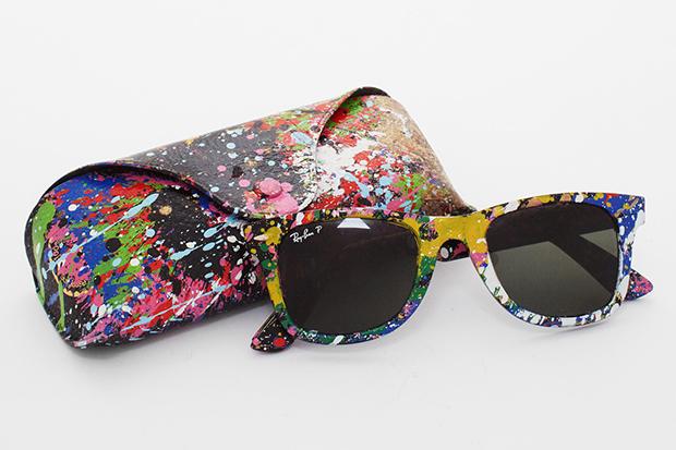 f7713c42c25c5 Ray Ban lança coleção de óculos coloridos em colaboração com o artista Mr.  Brainwash