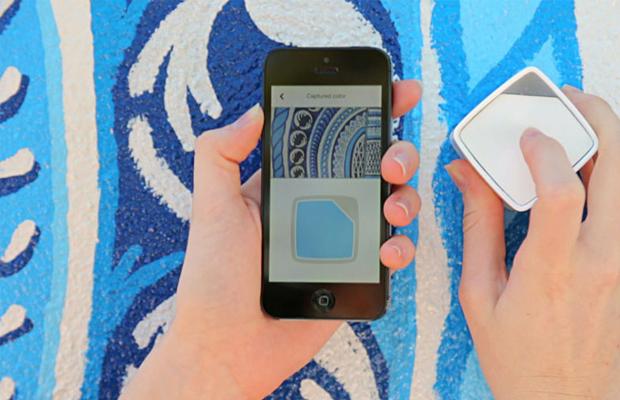 capturar cores SwatchMate Cube azul