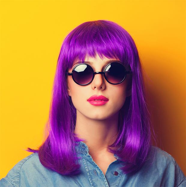 cores roxo lilás violeta significado curiosidades cabelo