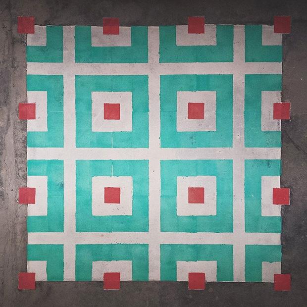 estêncil padrões geométricos javier de riba 04