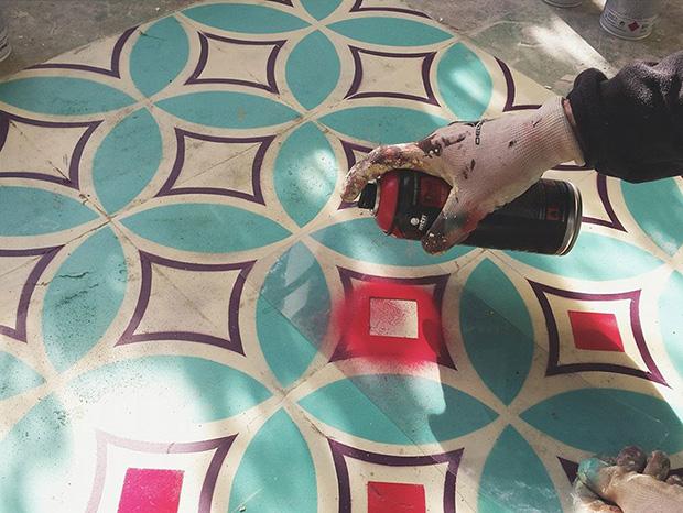 estêncil padrões geométricos javier de riba 06
