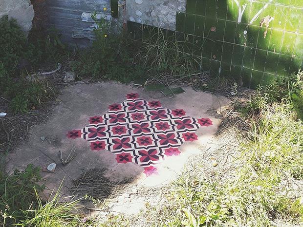 estêncil padrões geométricos javier de riba 12