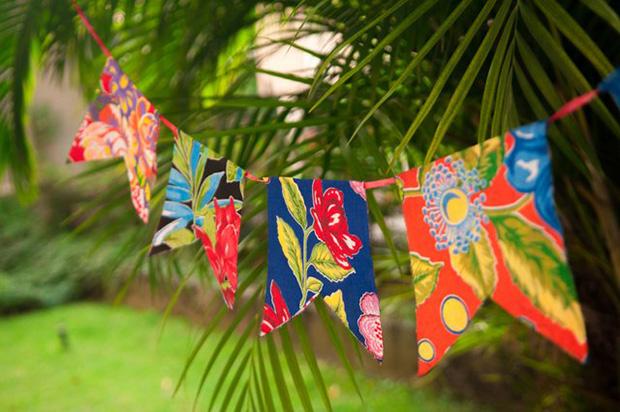 festa junina bandeirinha tecido passo a passo