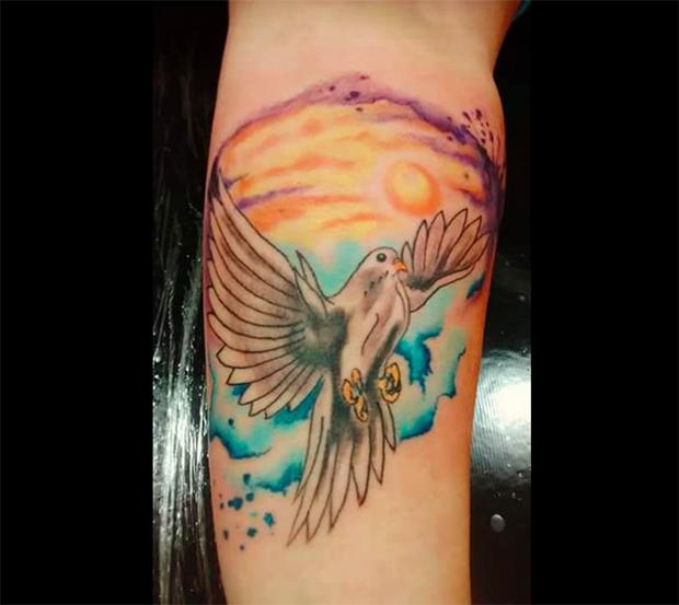 tattoo aquarela watercolor jorge Mitsunaga pomba paz