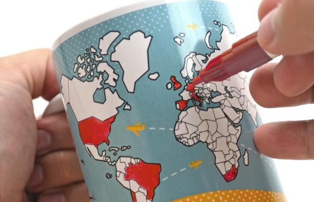 objetos de desejo caneca mapa mundi produtos viajar