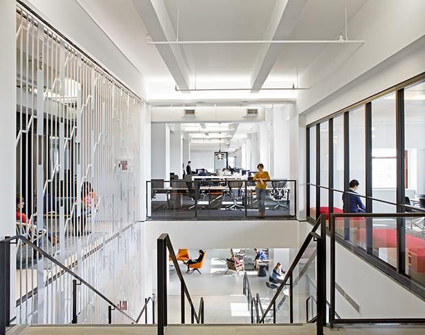 Escritório Shutterstock nyc headquarters amplitude