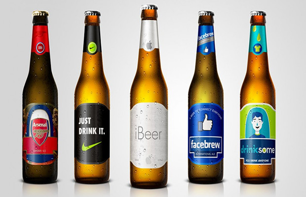 marcas transformadas em cervejas printsome