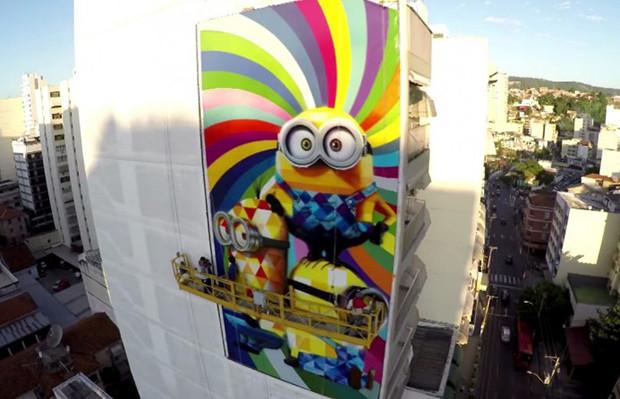 mural street art minions eduardo kobra 02