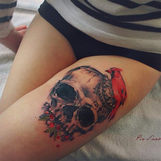 tattoo friday Pis Saro tattoo caveira