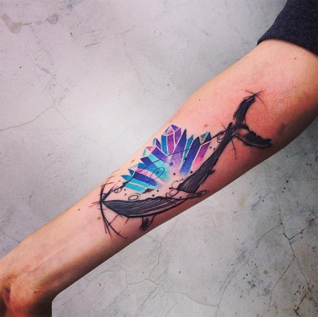 tattoo friday Pis Saro tattoo baleia