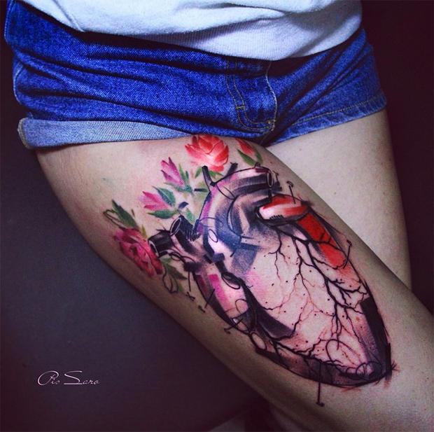 tattoo friday Pis Saro tattoo coração