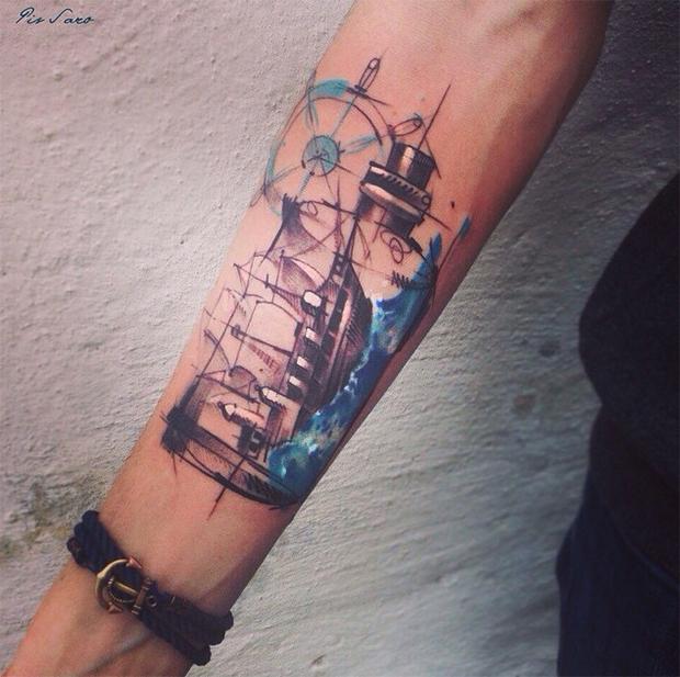 tattoo friday Pis Saro tattoo navio