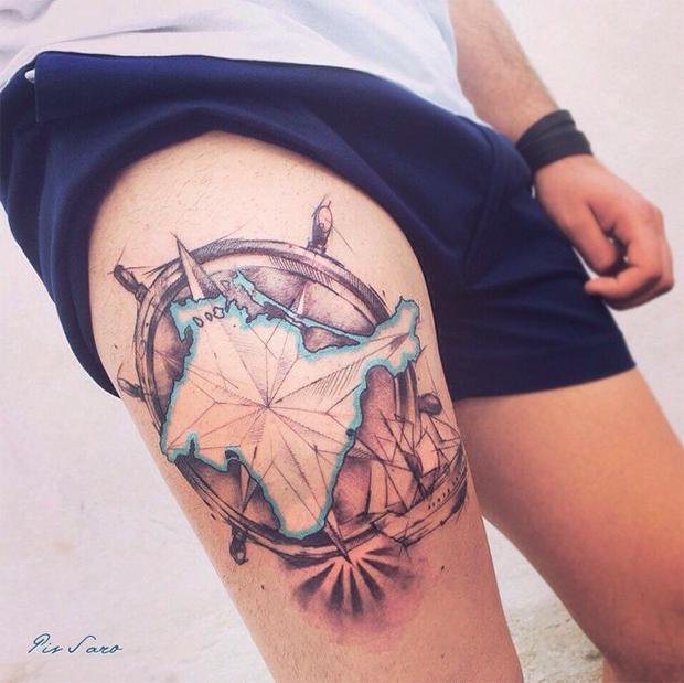 tattoo friday Pis Saro tattoo mapa