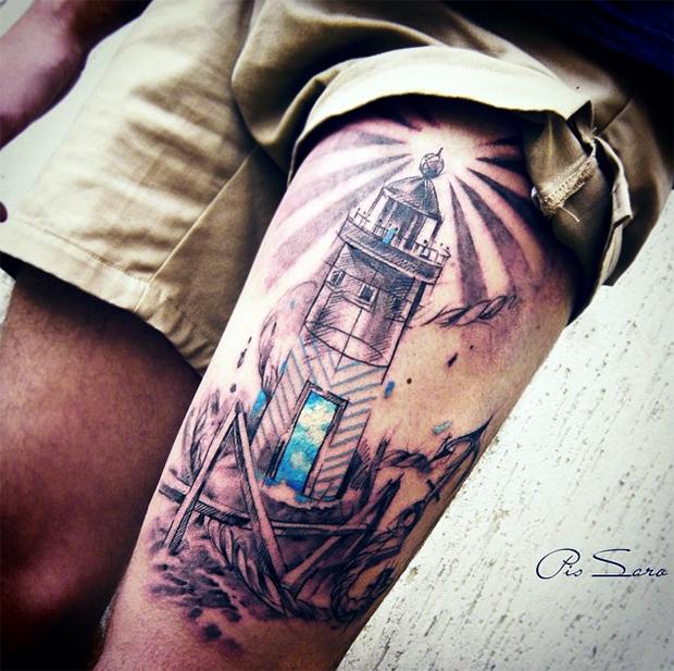 tattoo friday Pis Saro tattoo farol