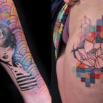 Emilie Barbera mistura técnicas e estilos e dá vida à tatuagens interessantíssimas na pele