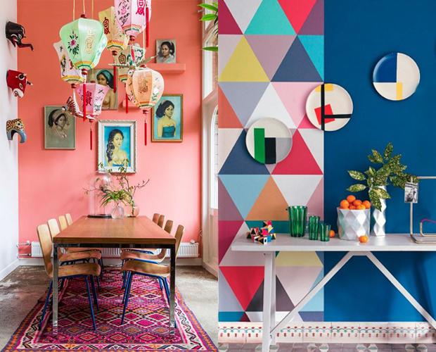 casa mais colorida parede pintura