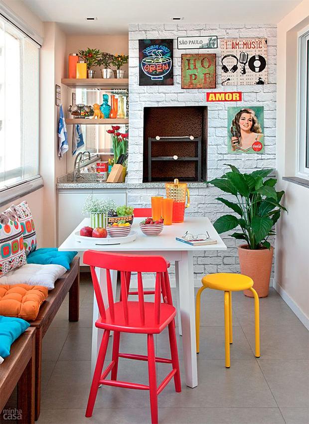 casa mais colorida varanda