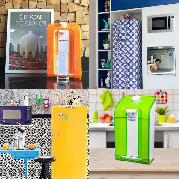 cozinha eletrodomésticos coloridos Latina purificador de água