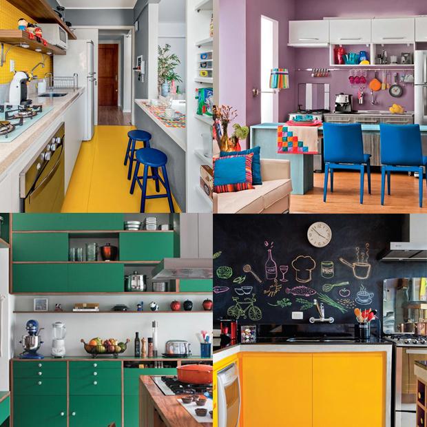 pintura dicas cozinha mais colorida
