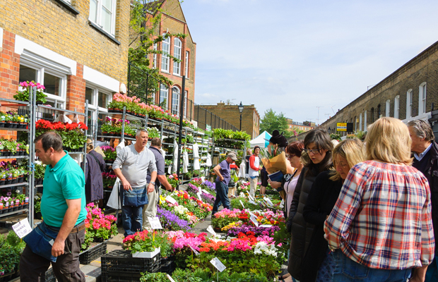 London Londres dicas lugares columbia road flower market