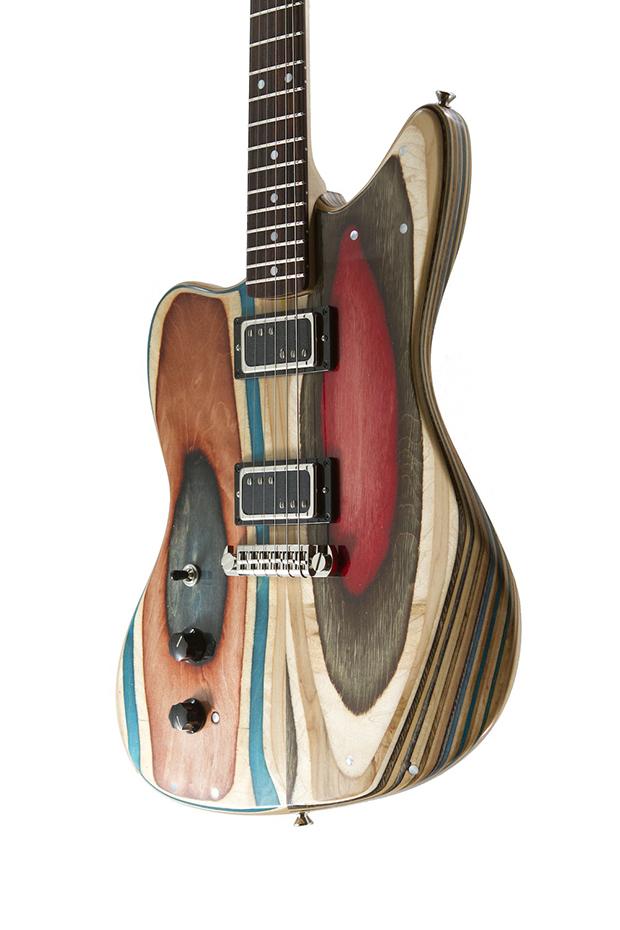 skates usados viram guitarras prisma guitar