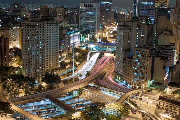 são paulo cidade brasil noite