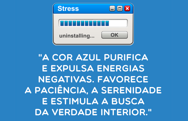 azul gotas de cor stress