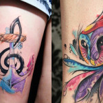 Kelvin Gabriel aposta nas cores marcantes e com muito estilo cria fantásticas tatuagens em aquarela