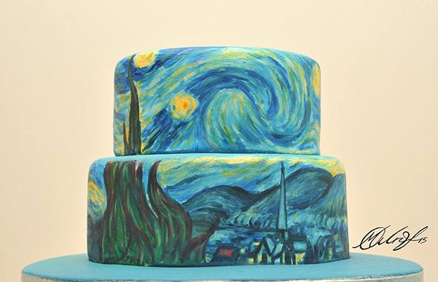 cake design Maria Aristidou van gogh